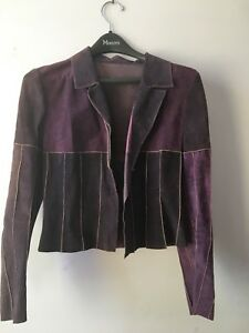 Vintage Purple Suede Jacket (Small)