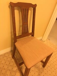 Set of 4 Solid Wood Chairs for Sale