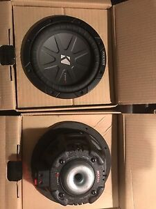 "Kicker compR 8"" subs in custom box"