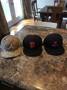 New Era fitted hats size 7 3/8