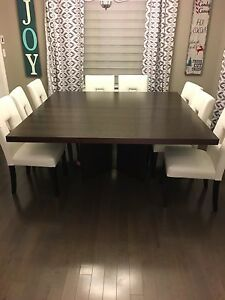 "Large Square Designer Dining Table 70.5"" x 70.5"""