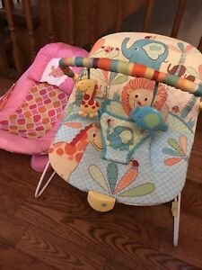 Both $20 - baby bouncer and bath support