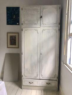 French Provincial white wardrobe