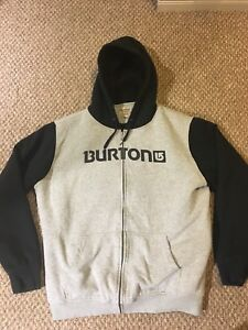 Burton hooded zip up sweater
