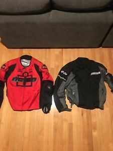 2 motorcycle jackets size L and XL