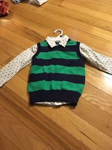 Boys dress shirt and vest