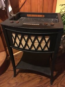 Old Radio Converted to Side Table