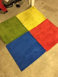 Hampen rugs x 4