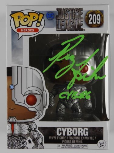 Ray Fisher Cyborg Signed Autograph Funko Pop 209 Justice League Beckett