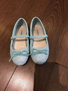 Size 8T Girls Blue Dress Shoes