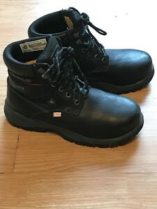 Size 8.5 Green Patch Safety Boot Women's