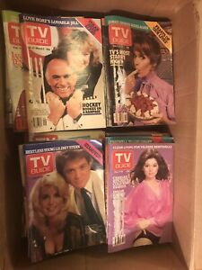 Box of about 80 TV Guides