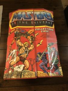 Vintage Masters of the Universe Case w/collector figures