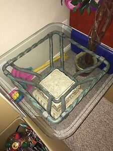 Set Of 2 Stone/Metal/Glass End Tables