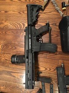 Tippmann a5 + tipx+ vforce grill + goodies