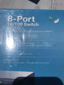 8 PORT HIGH SPEED 10/100 SWITCH FOR NETWORKING