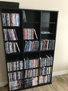 DVD stand with adjustable shelves