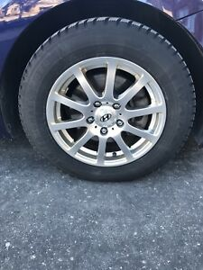 "15"" Hyundai winter tires with rims"