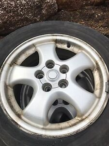 4 rims and winter tires