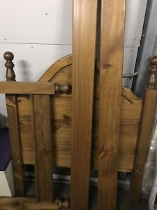 Perfect condition solid timber single bed
