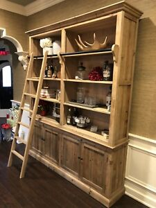 Bookcase/display unit, all natural reclaimed Pine