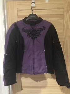 Motorcycle jacket with armour built in and Helmet