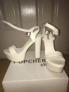 Size 9 White Heels Sutherland Sutherland Area Preview