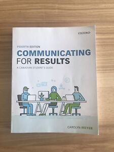 TEXTBOOK: Communicating for Results 4th Edition