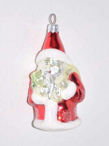Red Santa Christopher Radko Ornament Vintage