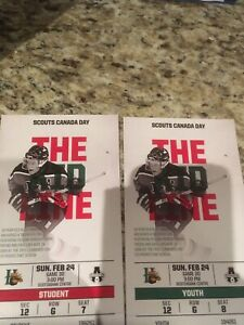 Mooseheads lower bowl tickets Sunday February 24th
