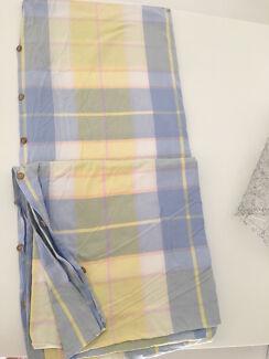 King size doona cover tartan design