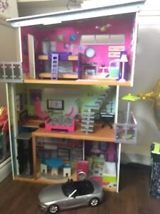 Barbie Doll House and Convertible