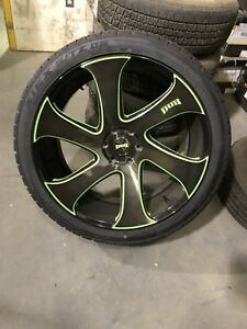 "24"" custom painted DUBS for F150"