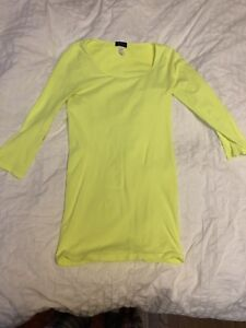Neon yellow skin dress one size fits all 15$