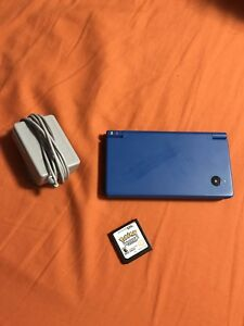 Blue Nintendo DSi with Charger and Pokémon White