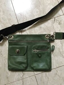 Roots Village Flat Bag leather crossbody (retail $200)