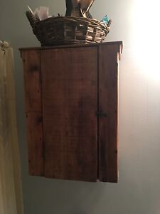 Antique Wood Wall Cabinet