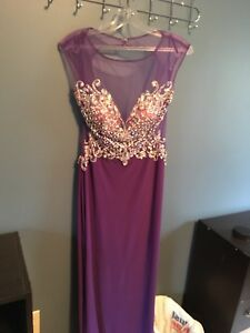 Purple grad dress worn once