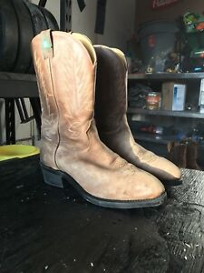 Cowboy work boots steel toe