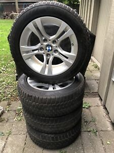 """Style 268 OEM BMW 16"""" Snow winter wheel package fits e90+"""