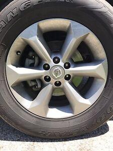 Genuine navara wheels rims tyres alloy 17 inch Keilor Brimbank Area Preview
