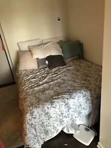 Queen Mattress + Box Spring + Metal Bed Frame