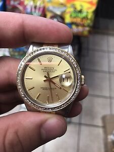 Two Tone Rolex DateJust With 2.5 CT Bezel
