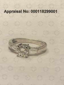 18KT WHITE GOLD DIAMOND ENGAGEMENT RING and FITTED WEDDING BAND