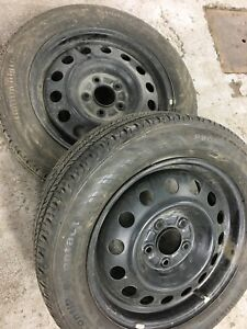 2 summer tires on Rims for sale