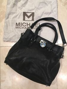 Authentic MICHAEL KORS Hamilton leather tote bag