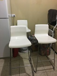 Bar stools white x 3