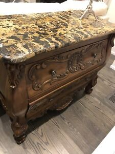 Chest of drawers with granite top/dresser