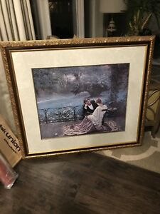 Victorian picture in beautiful frame