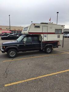 Slide in truck camper